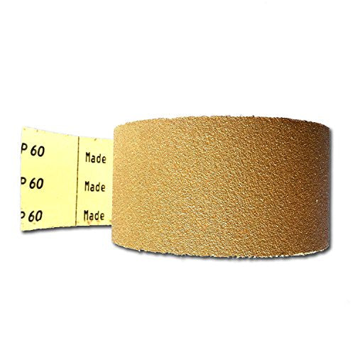 2-3/4 Inch Continuous Sheet Roll - PSA Adhesive Sticky Backed Longboard Sandpaper (2-3/4 Inch X 20 Yards, 60 grit)