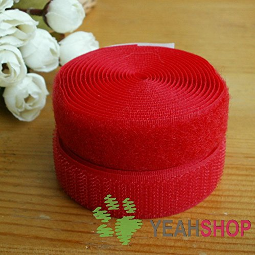 20mm Red Sew on Velcro Hook & Loop Tape - 5 Meters (VC20-3)
