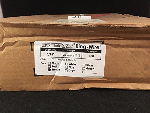 "Partial Box of 28 Renz Bronze 5/16"" - 3:1, 32 Loop Binding Rings"