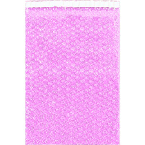 "Tape Logic TLBOB1223AS Anti-Static Bubble Pouches, 12"" x 23 1/2"", Pink (Pack of 150)"