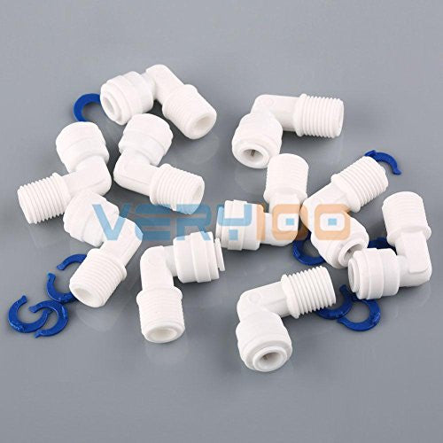 "10pcs 1/4"" Male Thread to 1/4"" Push Fit Tube Quick Connect Water Reverse Osmosis"