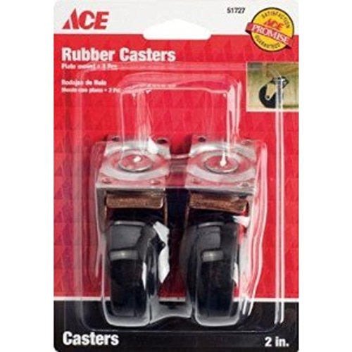 "2Pk 2"" Plate Caster ACE Caster Cups 9346 082901517276"