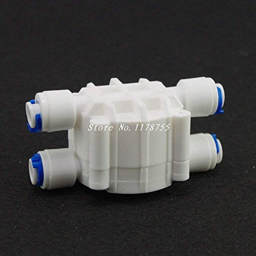 "1PCS 1/4""Port Reverse Osmosis System Auto Shut Off 4 Way Valve For RO"