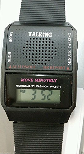 English Language Newest Unisex Talking Watch for Blind and Visually Impaired People with Alarm