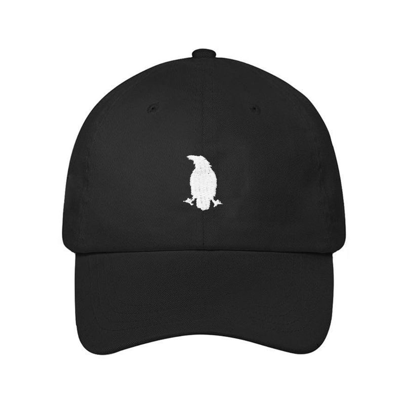 Karasu Clothing Co - Black dad hat/cap, embroidered crow