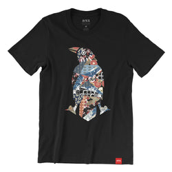 Karasu Clothing Co - Black t-shirt, Japanese Pattern Crow design