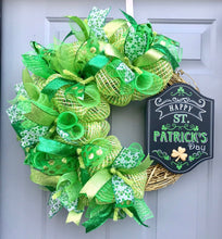 St Patrick's Day Wreath, Shamrock Grapevine Decor, Happy St Pattys Day