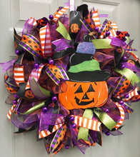 Halloween Pumpkin Wreath, Halloween Door Decor, Halloween Party, Happy Halloween