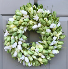Tulip Wreath, Easter Decor, Spring Front Door, Saint Patricks Day, Floral Wreath, Baby Shower Gift