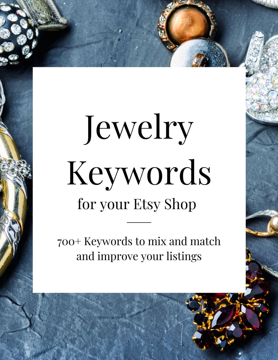 Jewelry Keywords for Etsy Listings, SEO Keywords, Etsy Help, Etsy SEO, Etsy Keywords