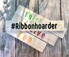 "Ribbon Rulers Set of 4, Ribbon Measuring Sticks, Craft Supplies, Ribbon Tools, 2.5"" wide boards"