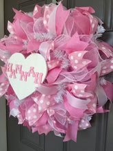 Customizable Baby Girl Shower Deco Mesh Wreath
