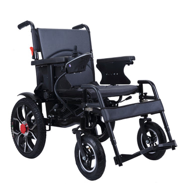 CLEARANCE ITEM! City Hopper Electric Wheelchair, 500W Motor, 24V–13AH Lithium Battery, Easily Foldable, Joystick Controlled (Open Box)