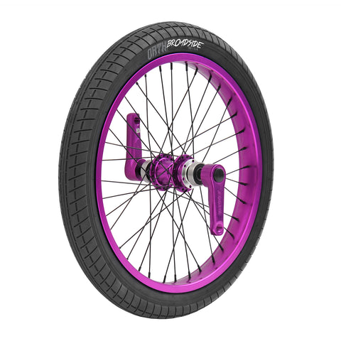 Triad Drift Trike - DYNASTY 2 Front Wheel, Tricycle Replacement Wheel (Black, Blue, Red, Green, Purple, Orange, Green)