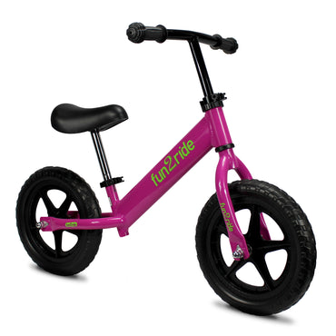 Fun2Ride Kids Balance Bike, Lightweight Bicycle for Boys and Girls with 12-inch Puncture Resistant Tires (Mint, Yellow, Pink)