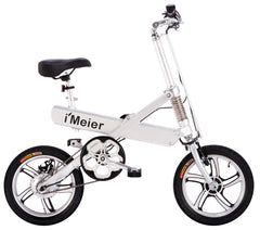 Electric Bicycle Extra Long-Range Riding, Foldable eBike, Optional Pedal Assisted, Aluminum Alloy Electric Bike by iMEIER