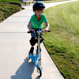 Ped-Run Kids Scooter 3-Wheel fun for Boys & Girls with Dual Pedal, Bike Scooter Hybrid