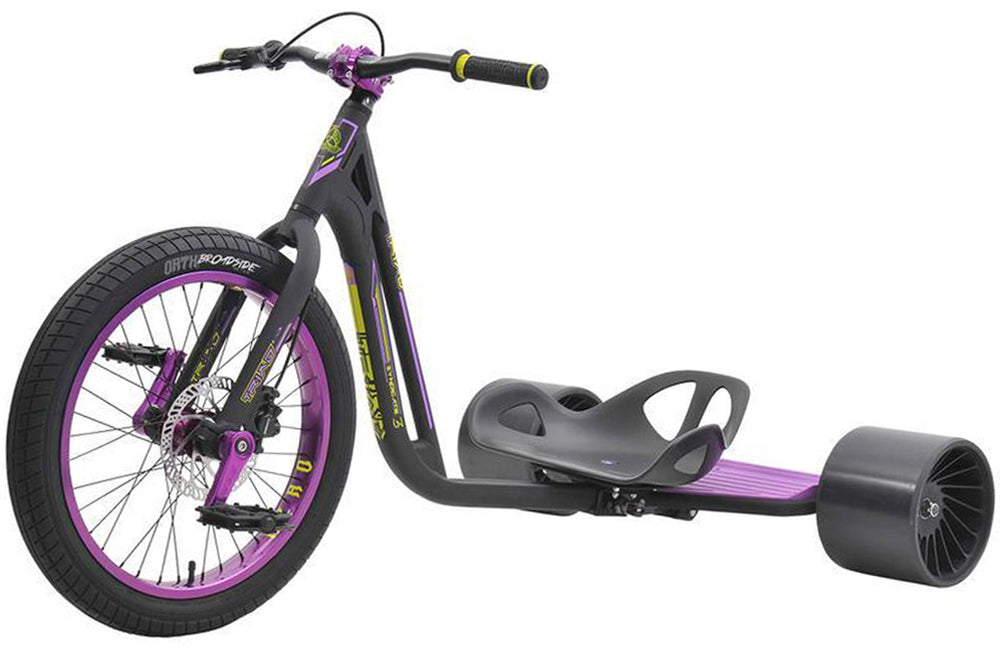 Triad Drift Trike - Syndicate 3- Adult Sized Tricycle w/ Anodized 50mm Wheel, Hydraulic Disc Brake & Padded Seat