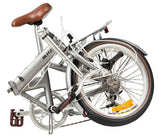Bike Rassine - Adult Folding Bike, ALLOY Model, Portable Bicycle with V-Brakes, Black or Grey