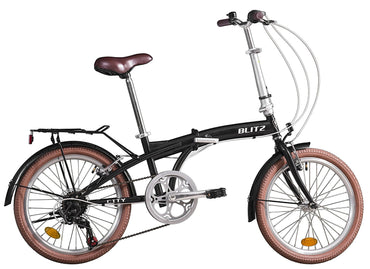 Bike Rassine - Adult Portable Bike, CITY Model, Folding Bike with Hi_Ten Steel Frame, Black or Champagne