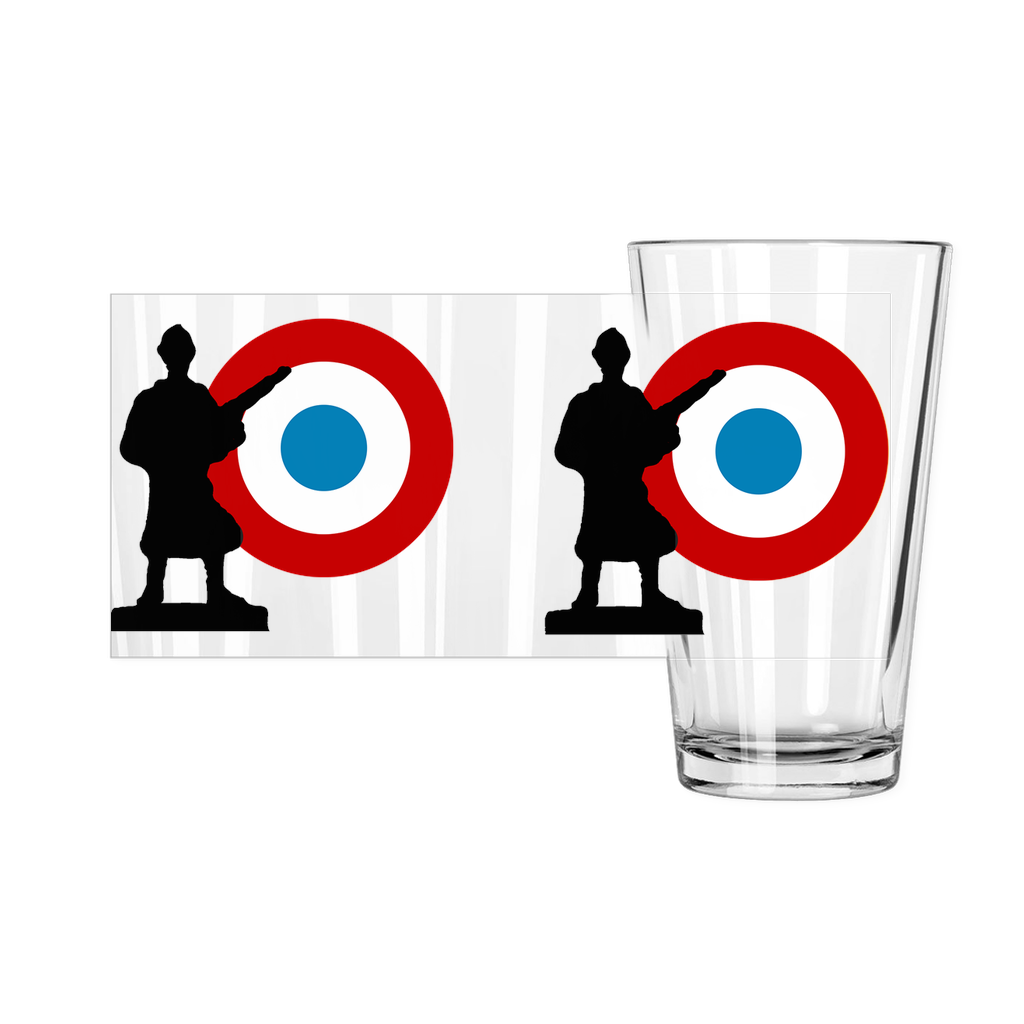 Axis & Allies French Roundel Pint Glass