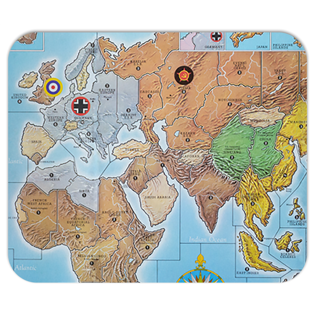 Axis & Allies Original Board Game Mouse Pad