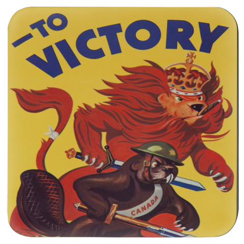 WW2 Allied Propaganda Coasters (x4)