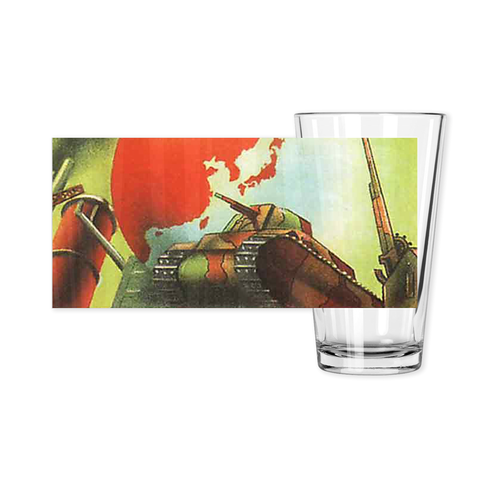 WW2 Japanese Poster Pint Glass