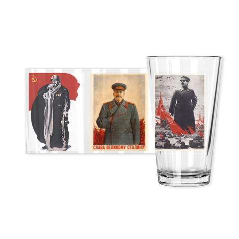 WW2 Soviet Poster Pint Glasses