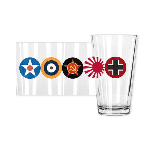 Axis & Allies Roundels w/o Logo Pint Glasses