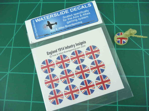 Axis & Allies 1914 British Roundel Infantry Base Water Slide Decal