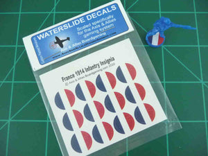 Axis & Allies 1914 France Roundel Infantry Base Water Slide Decal