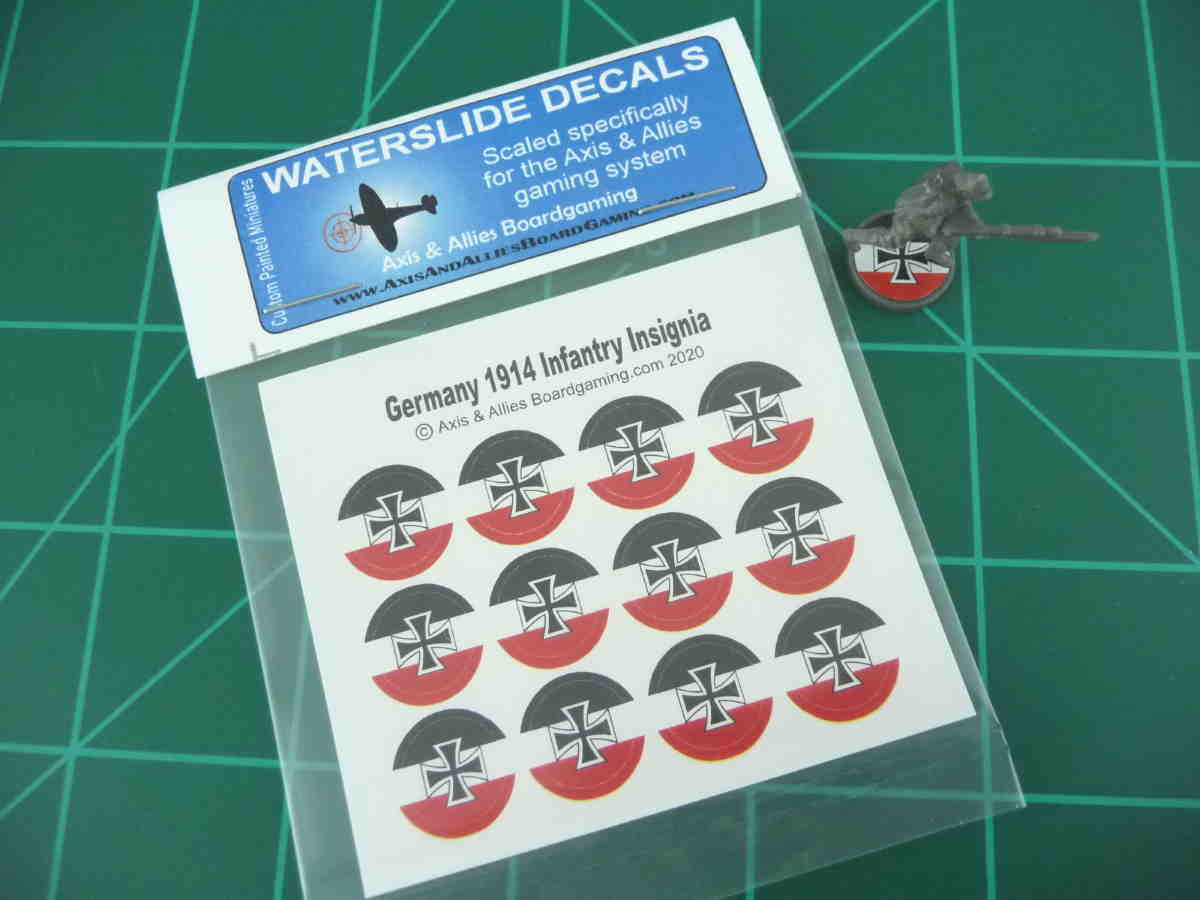Axis & Allies 1914 German Roundel Infantry Base Water Slide Decal
