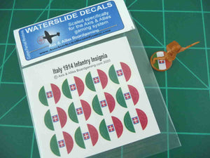 Axis & Allies 1914 Italian Roundel Infantry Base Water Slide Decal