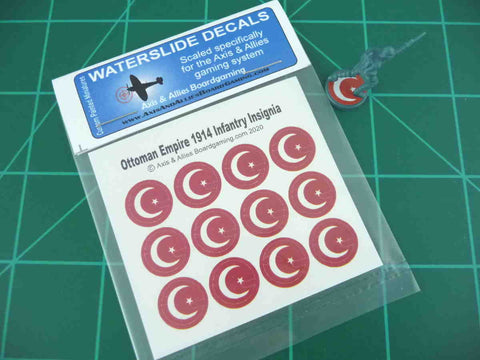 Axis & Allies 1914 Ottoman Roundel Infantry Base Water Slide Decal