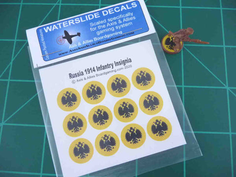 Axis & Allies 1914 Russian Roundel Infantry Base Water Slide Decal