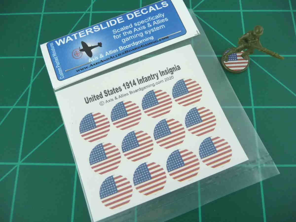 Axis & Allies 1914 US Roundel Infantry Base Water Slide Decal