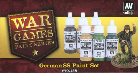 German SS Paint Set from Vallejo (6) Colors