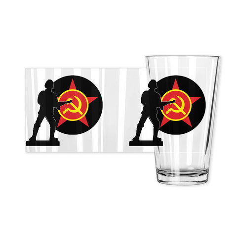Axis & Allies Soviet Roundel Pint Glass