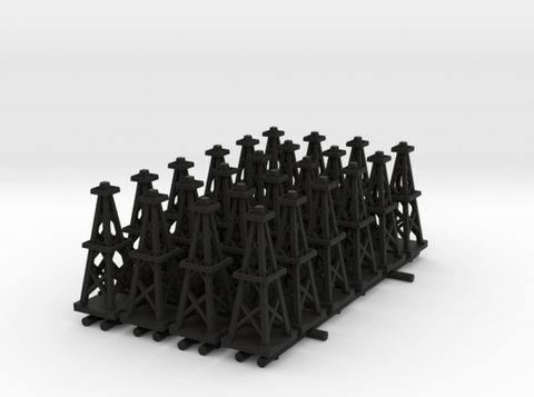 Oil Derrick (x24) in Black