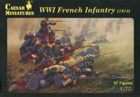 Caesar Miniatures 1/72 WW1 French Infantry