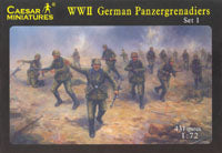Caesar Miniatures 1/72 WWII German Panzergrenadiers
