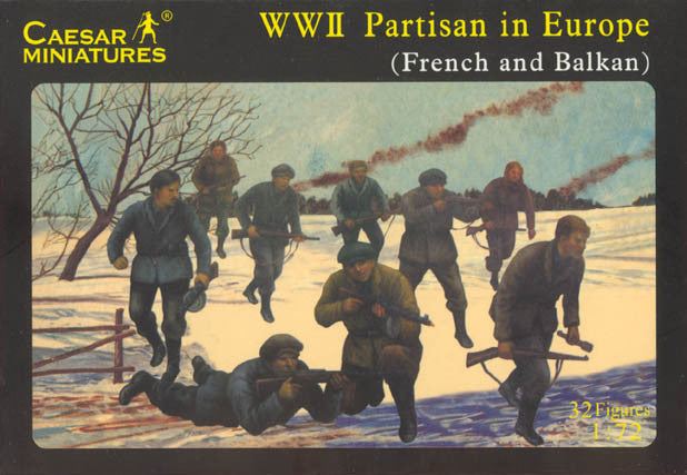 Caesar Miniatures 1/72  WW2 Partisan in Europe