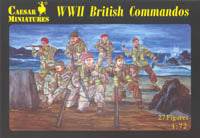 Caesar Miniatures 1/72 British Commados