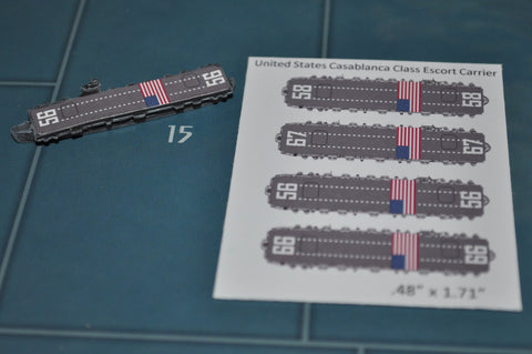 Custom Casablanca Class US Carrier Decal(x4)
