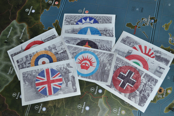 Axis & Allies Global 1940 Combat Labels