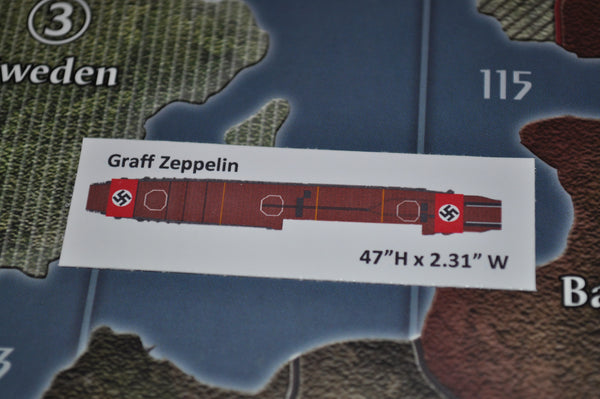 Custom Seydlitz & Graf Zeppelin German Carrier Decal Set