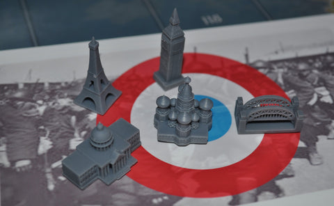 1/285 3D Printed Allied Capitals/Victory City Set