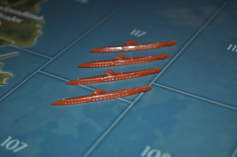 Axis & Allies Japanese Submarine (x4)