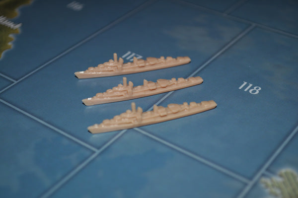 Axis & Allies UK Destroyer (x3)